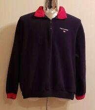 Vintage Polo Sport Ralph Lauren Fleece Sweater Pullover Zip Red Blue Men's Large