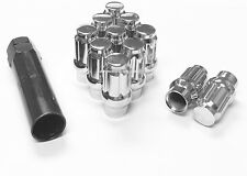 (16) 14x1.5 SPLINE ET EXTENDED THREAD TUNER LUG NUTS CHROME MOST GMC CHEVY FORD