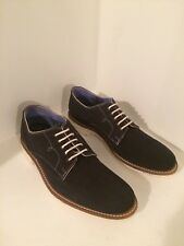 "NWOB TED BAKER LONDON ""Tich"" Men's Dark Blue Canvas Oxfords Size US 8"
