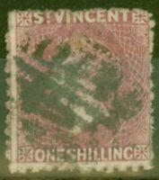 St Vincent 1875 1s Claret SG21 Good Used