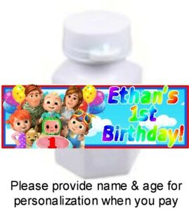 30 Cocomelon Birthday Party Baby Shower Mini Bubble Stickers Labels