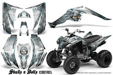 YAMAHA RAPTOR 350 GRAPHICS KIT CREATORX DECALS STICKERS SKULLS BOLTS M BLIW