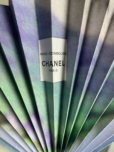 CHANEL Paris EDIMBOURG Paper Fan Accessory Brand New VIP Summer 2021