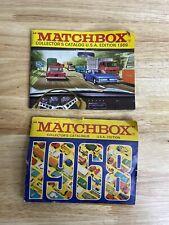 Vintage Old Matchbox 1968 & 1969 Catalogs Lesney England