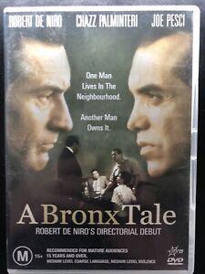 A Bronx Tale DVD Robert De Niro, Joe Pesci, Chazz Palminteri Region 4 Free Post