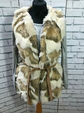 Zara  Animal  Print Faux Fur Coat / Jacket / Vest / Gillet Size S