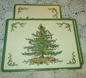 Pimpernell Christmas Tree Placemats Set 4