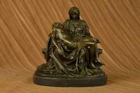 Religious La Pieta bronze sculpture home/office/church decor by Lost Wax Sale NR