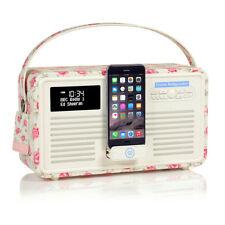 VQ Retro Mk II DAB Radio Bluetooth, Ipod Dock, alarma Emma Bridgewater Rosa & Abeja
