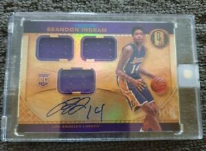 2016-17 Panini Gold Standard Rookie Auto Brandon Ingram NBA basketball card #99