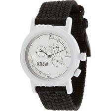 $80 KR3W Navigator Watch white black K1340WHITE-1S