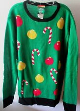 """Adult Tis The Season Ugly Christmas Sweater Large 42-44"""" Chest 131472 Red Green"""