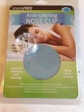 Snore Free Anti-Snoring Nose Clip Drug Free Device Brand New and Sealed