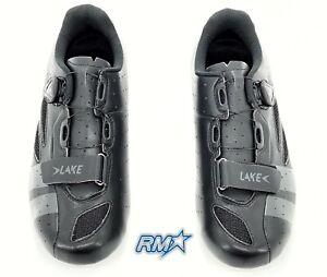 CX176 Wide Fit Road Shoes, 43 EU Black