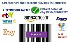 1000  per ean upc per Amazon univoci senza scadenza 13 numeri WORLDWIDE