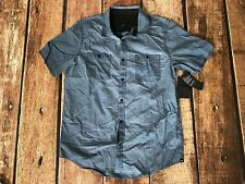 Hurley Mens Redford Woven Shirt Squadron Blue Large New 889294651064
