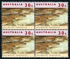 2017 30c Crocodile 11th Reprint 1994 Block of Four 4 SG1361 MUH Mint Stamp