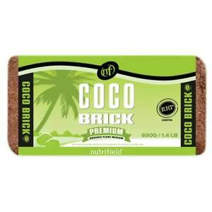 650g Coco Brick Premium Coir Peat Organic Plant Growth Medium Husk 9L Nutrifield