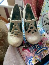 Irregular Choice Nicely Done White Glitter Size 39 Brand New In Box 🦄🦋