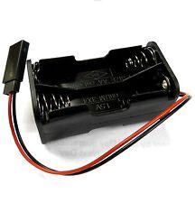C1202-11 RC Battery Holder Case Box Pack 4 x AA Futaba Female 3 Pin Black