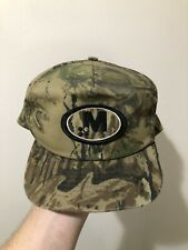 Vintage 70s 80s Swingster M Patch Realtree Camo Snapback Trucker Hat Cap USA