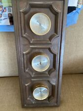 Vintage Springfield Weather Station Barometer Gauge Temp Humidity Faux Wood