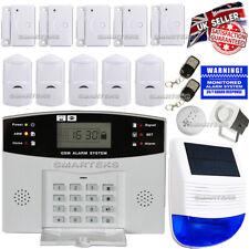 LCD WIRELESS SOLAR POWER GSM AUTODIAL HOME HOUSE SECURITY BURGLAR INTRUDER ALARM