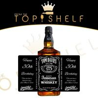 personalised whiskey whisky bourbon tennessee JD label birthday any occasion
