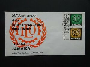 Jamaica International labour organization official first day stamp cover 1969