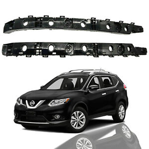 For 2014 2015 2016 2017 Nissan Rogue Rear Bumper Brackets Retainers Left Right
