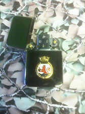 Army Military Regimental Lighter With Royal Navy HMS EXETER On Front