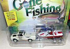 JOHNNY LIGHTNING GONE FISHING S1 1965 CHEVY TRUCK BOAT & TRAILER