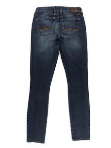 """Lucky Brand Sofia Skinny Jeans Women's Size 2 Long Blue Denim Stretch W26"""" L32"""""""