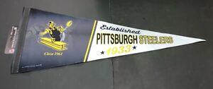 """Pittsburgh Steelers Throwback 12"""" x 30"""" Premium Pennant FREE SHIPPING ."""