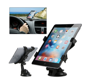 """Universal In Car Suction Mount 360 Holder iPad & Samsung Galaxy Tablet 7"""" To 11"""""""