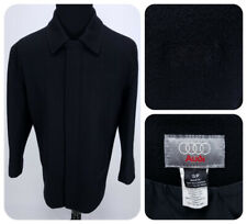 Audi Genuine Luxury Wool Coat Size Small Zip Up Embroidered Logo Made in Canada