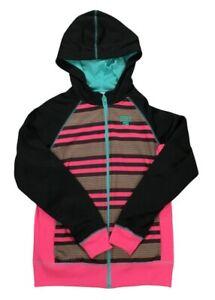 Women's Nike Vintage Hooded Track Jacket Junior XL 13-15 Yrs Pink Black 6308