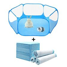 New listing Small Pets Fence Cage Diaper Set Hamster Tent Playpen Folding Cloth 115x100x38cm