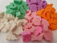 12 Assorted Christmas symbols Scented christmas Wax Melts Various Fragrances