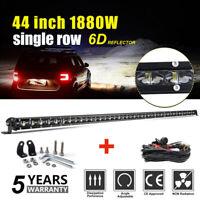 "1880W 44"" Barre à LED 4x4 phare de travail Light Bar 10-30V Rampe offroad SUV"