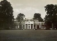 "ORIGINAL - THOMAS JEFFERSON'S HOME "" MONTICELLO "" - NEW YORK PHOTO c1959"