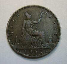Great Britain 1/2 Penny (Half Penny) 1862