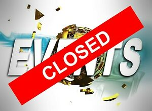 Closed sticker 9556 Business closed let people know stay safe