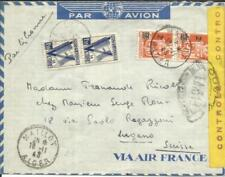 Algeria Sc#165(pair)#166(pair)-MAILLOT ALGER 18/11/43-WWII FRENCH CENSOR