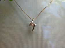 New Natural Pink Diamond Pendant Solid 18K 18CT White Gold Setting