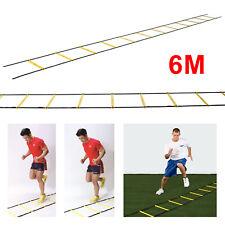 6M Speed Mens football training ladder Training Equipment Goals 12-rung Soccer
