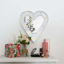 Shabby Chic Hollywood LED Heart Mirror Home Accessories .. FREE UK DELIVERY