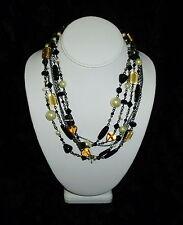 Lia Sophia Vixen Mother of Pearl & Glass Bead Multi Layer Chain Necklace