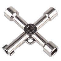 4 Way Cross Utility Key für Gas Elektrische Schrank Meter Box Schrank Kühler
