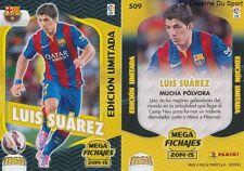 N°509 LUIS SUAREZ URUGUAY FC.BARCELONA LIMITED EDITION CARD PANINI MGK LIGA 2015